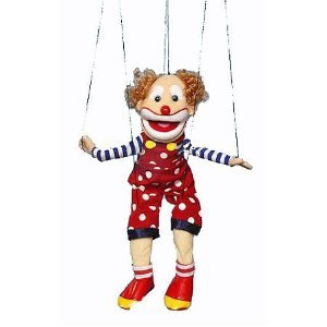 Sunny Puppets Bald Clown Marionette from Sunny Puppets