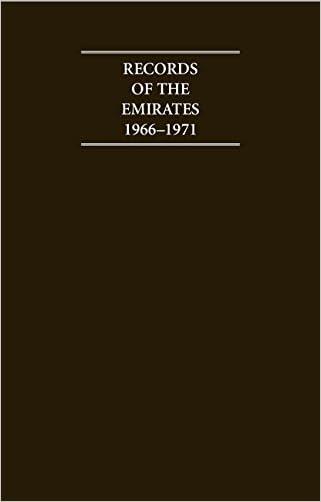 Records of the Emirates 1966-1971 6 Volume Hardback Set (Cambridge Archive Editions)