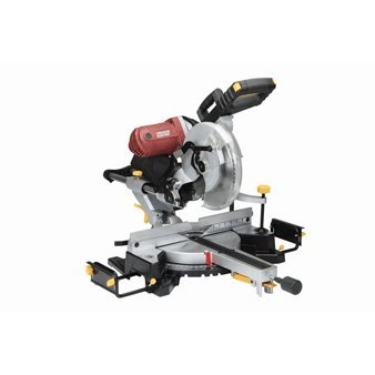 12 Inch Double-Bevel Sliding Compound Miter Saw With Laser Guide 15 Amp; Comes With 60 Tooth Carbide Blade, Dust Bag, Machined Aluminum Fence, Extension Bars, Table Clamp, Cord Storage Hooks