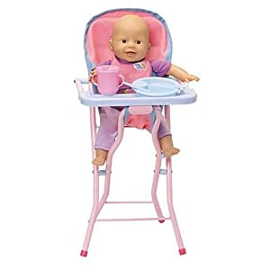 Chou Chou 14 Doll With High Chair Feeding Bowl And