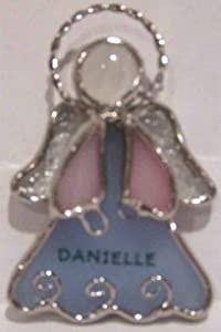James personalized stained glass ornament