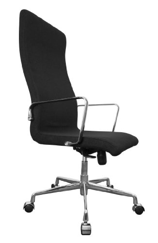Amstyle Luzern 1 Design Director's Chair High Reclining with Synchro Mechanism Chromed Arm Rests / Base