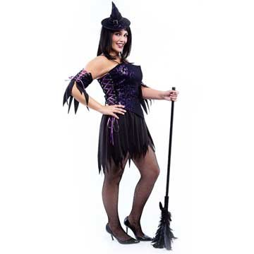 Purple Lace Witch Adult Plus Costume (Women's Adult Costume)