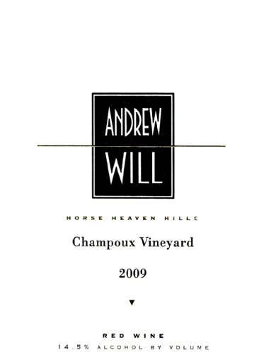 2009 Andrew Will Champoux Red Blend 750 Ml
