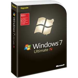 Microsoft Windows 7 Ultimate, N version, Upgrade Edition (PC DVD)