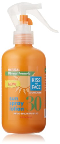 buy Kiss My Face Mineral Sun Spray Natural Sunscreen Lotion Spf 30 Sunblock, 8 Ounce