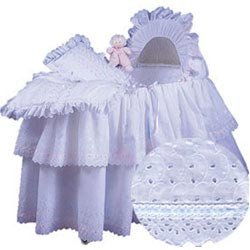 Baby Doll Little Angel Bassinet Set Ribbon, Blue