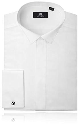 Smokinghemd, Weiß, Kläppchenkragen, schlichte Hemdbrust, 37