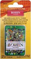 Bohin Glass Head Applique Pins-150/Pkg