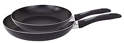 WearEver A801S2 Comfort Grip Nonstick Fry Pan Cookware Set, 8 and 10-Inch, Black, 2-Pack