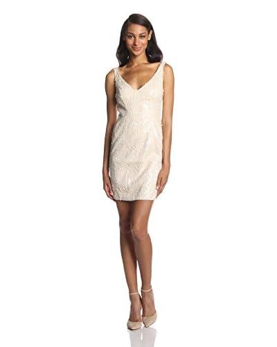 Aidan by Aidan Mattox Women's Sleeveless Sequin V-Neck Dress