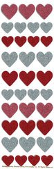 Martha Stewart Crafts - Valentine - Glitter Stickers - Hearts
