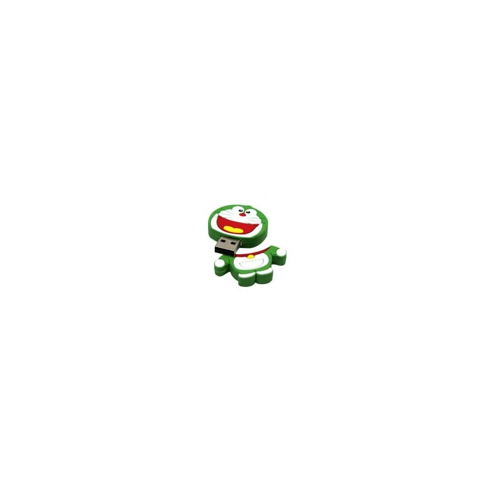 2GB Lovely Doraemon Cartoon USB Flash Drive Green