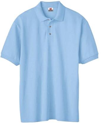 Hanes Men's 7 oz. ComfortSoft� Cotton Piqu� Polo - LIGHT BLUE - S