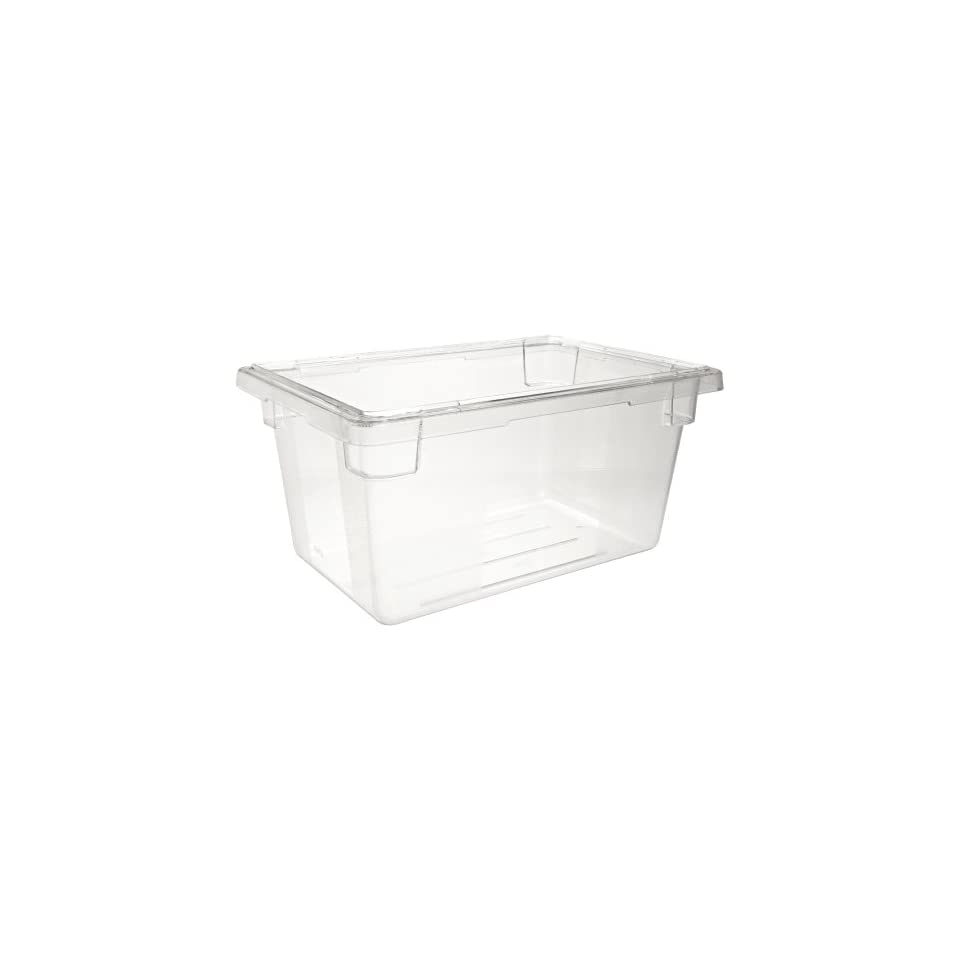 "Rubbermaid Commercial 3304 CLE 18"" Length x 12"" Width x 9"" Depth, 5 gallon Clear PolyCarbonate Food/Tote Box"
