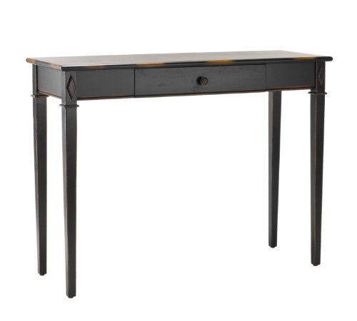 Safavieh Distressed Dark Brown Console Drawer Table