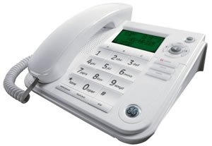 GE 29581GE1 Corded Desktop Speakerphone with Caller ID (White)