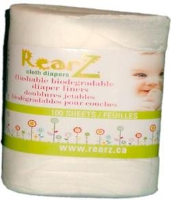 RearZ Certified Organic Bamboo Biodegradable Liners 100 sheets