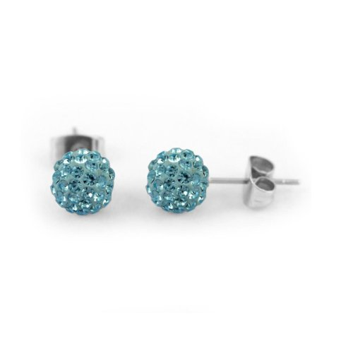 Blue Crystal Stud Earrings