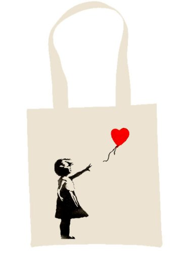 Banksy Balloon Girl Eco Friendly Tote Shoulder Bag