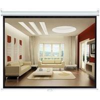 Pyle Home PRJSL84 84-Inch Manual Pull Down Self Locking Projector Screen Standard Format (4:3)