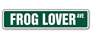 FROG LOVER -Street Sign- green reptile collectible gift