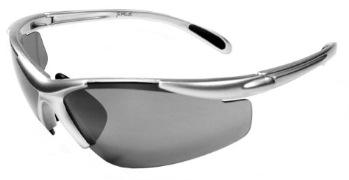 JiMarti JM01 Sunglasses for Golf, Fishing, Cycling-Unbreakable-TR90 (Silver & Black)