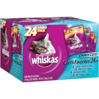 Image of Whiskas Choice Cuts Chef's Favorites Variety 24-Count Pack, 4.5-Pound