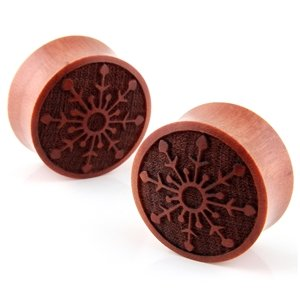 Snowflake of Skadi Wood Earplugs Gauges 9/16in