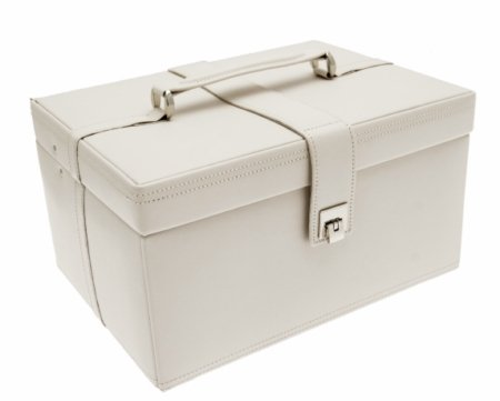 Dulwich Designs Naples Cream Leather Jewellery Box (XL) 70347