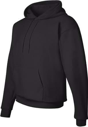 Hanes ComfortBlend EcoSmart Pullover Hoodie Sweatshirt, Black, Small