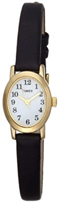Timex Women's T2M566 Cavatina Black Leather Strap Watch