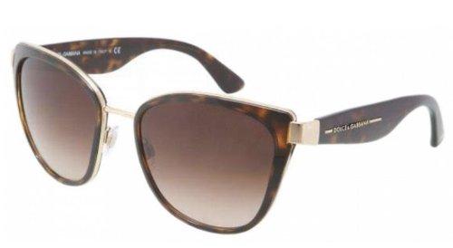 Dolce & Gabbana Dg2107 Sunglasses-02/13 Gold (Brown Gradient Lens)-57Mm