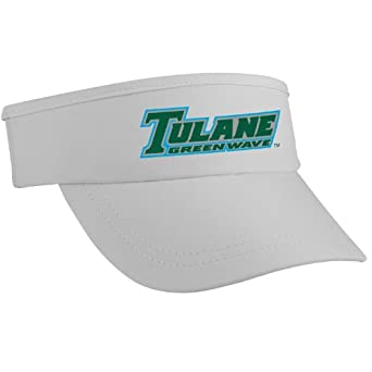 Buy NCAA Tulane Green Wave High Performance Running Outdoor Sports Super Visor, White by Headsweats