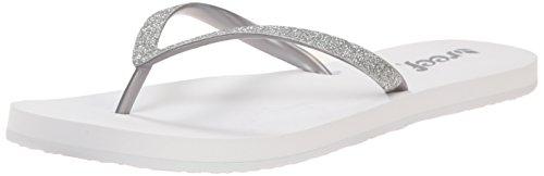Reef Women's Stargazer Flip Flop, White/Silver, 8 M US