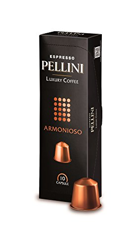 Pellini Luxury Coffee Armonioso Nespresso Compatible Capsules (Pack of 2, Total 20)