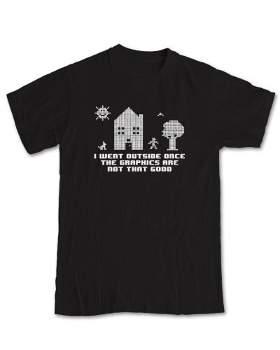 went-outside-once-gaming-t-shirt-black-m