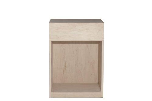 Urbangreen Furniture Urban Basics One Drawer Nightstand Unfinished Maple