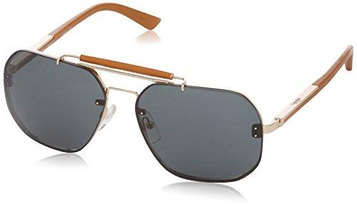 Calvin Klein CK7361S-209 Aviator Gold-Tone & Light Brown Sunglasses