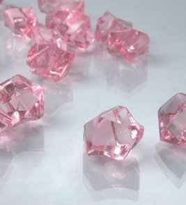 Dashington 2 Pounds of Pink Acrylic Ice Rock Vase Gems or Table Scatters (Pink Vase Filler Gems compare prices)