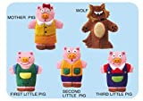 The Three Little Pigs 3-D Felt Finger Puppet Set