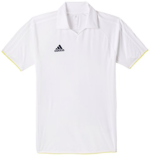 Adidas S90279 Cricket Essential Polo T- Shirt, Men's Small (White)