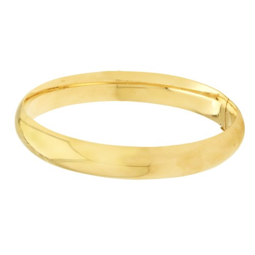 Duragold 14k Yellow Gold Polished Bangle Bracelet (10.5mm )