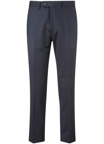 Austin Reed Slim Fit Navy Flat Front Tuxedo Trousers REGULAR MENS 34