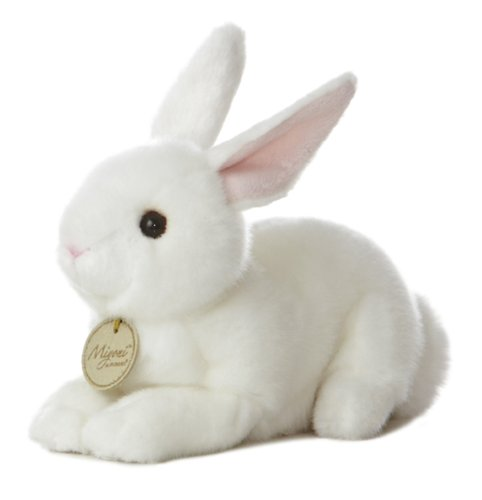 "Aurora World Miyoni Bunny 8"" Plush, White"