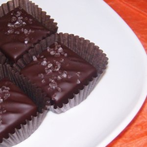 Caramels Covered in Dark Chocolate Kissed with Sea Salt in a 24 Piece Gift Box