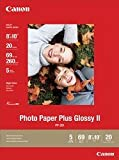 Canon Photo Paper Plus Glossy II, 8 x 10 Inches, 20 Sheets (2311B025)