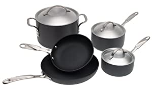 Simply Calphalon Nonstick Aluminum 8-Piece Cookware Set