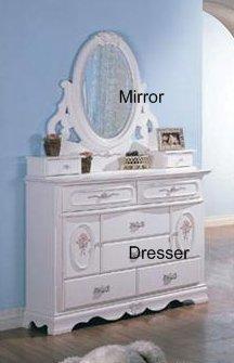 Cheap Sariah Kids Dresser and Mirror – Coaster 400103 (B005LWRLI6)
