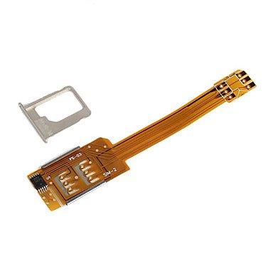 iPhone5 対応 デュアル SIM アダプター ( iPhone4 4S にも対応)